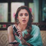 Nayantara, blue saree, speak