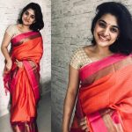 Nivetha Thomas, saree, traditional look