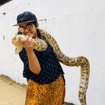 Nivetha Thomas, snake, smile, wallpaper, 2018