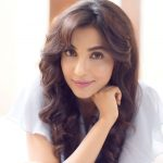 Parvatii Nair, blue dress, white, 2018 photoshoot