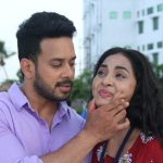 Pottu, Bharath, Srusti Dange, Cute, love, Kiss