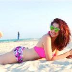 Raai Laxmi, glamour still, beach,