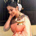 Raai Laxmi, saree. shy, traditional look