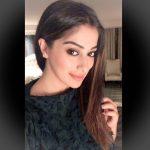 Raai Laxmi, selfie, black colour dress