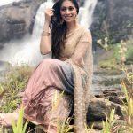 Raai Laxmi, water, shooting spot, saree