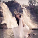 Raai Laxmi, white dress, saree in white