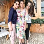 Raai Laxmi, with friend, girls