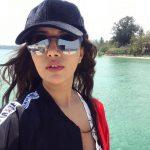 Raiza Wilson, selfie, coolers, water, mass
