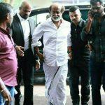 Rajinikanth, white vesti, shirt, mass look