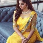 Reba Monica John, Yellow Saree, Marriage Function