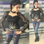 Sai Dhanshika, full size, black dress
