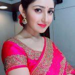 Sayesha Saigal, Pink Saree, dashing Look, Lipsstick
