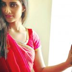 Shamlee, Shamili,  Red Saree, Cute
