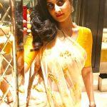Shamlee, Shamili,  Yellow Saree, Glamour