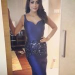 Shriya Saran, latest, 2018, blue dress