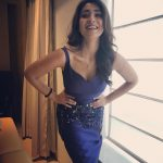 Shriya Saran, recent, blue colour dress