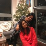 Shriya Saran, smile, with friend