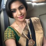 Sonu Gowda, green saree, car, selfie