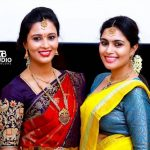 Sonu Gowda, yellow and red saree, spicy