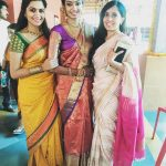 Sonu Gowda, yellow saree, friend marriage