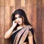 Yashika Aannand, saree, black dress, glamour, hd