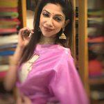 bhavana  pink saree (1)