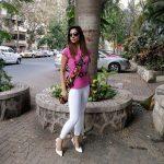 bhavana pink tee white pant(6)