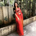 bhavana red saree pose (17)