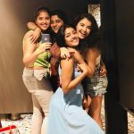 malvika sharma, girl friends, smile, happy