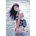 malvika sharma, model, beach