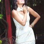 shilpa manjunath, white dress, actrss