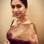 Aarthi, Jayam ravi Wife, Gold saree, treditional