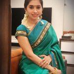 Aarthi, Jayam ravi Wife, green saree, malliga poo