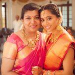 Aarthi, Jayam ravi Wife, red saree, rare