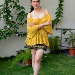 Aditi Rao Hydari, full size, yellow colour dress