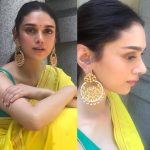 Aditi Rao Hydari, saree, yellow saree, wedding