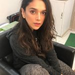 Aditi Rao Hydari, work, shooting, black dress