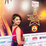 Aishwarya Dutta, Bigg Boss 2 Tamil, Galata nakshatra award, event, saree, glamour
