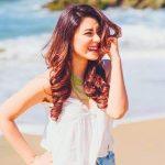 Anchal Singh, beach, smile
