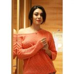 Anchal Singh, orange dress, cute