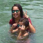 Anikha Surendran, Baby Anika, glamorous, swimming pool