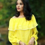 Anikha Surendran, Baby Anika, yellow dress, romantic