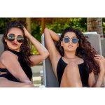 Anisha Ambrose, Vanjagar Ulagam heroine, magical look, beach