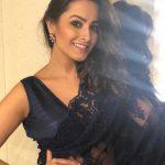 Anita Hassanandani, naagin 3, black saree, spicy