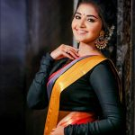 Anupama Parameswaran, Orange Saree, adorable