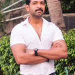 Arun Vijay, handsome, white dress