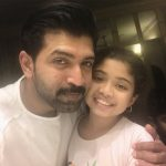 Arun Vijay, purvi, daughter