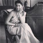 Ashima Narwal, black dress, saree