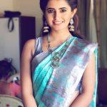 Ashima Narwal, blue saree, smile
