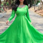 Athithi Das, green dress, awesome